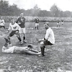 "27. April 1913 (Wagner Trophy) Österreich - Magyarország    1:4  (0:1) Referee:      John Thomas Howcroft (England) Attendance: 20.000, WAC-Platz, Wien Goal:   1:1 (62.) Studnicka  A scene from this match: Front, f. l. t. r. ""Jan"" Studnicka, Gyula Bíró, Károly Zsák (goalkeeper), ""Gundl"" Grundwald. Foto: IFFHS  Österreich: (Trainer: Hugo Meisl/10) Josef Kaltenbrunner (10/SK Rapid Wien) – Jakob Swatosch I (2/1. Simmeringer SC), Karl Rumbold* (1/First Vienna FC) – Franz Weber (6/First Vienna FC), Josef Brandstätter I (8/SK Rapid Wien), Dr. Karl Tekusch II (9/Wiener Associations-Footballclub) – Eduard Bauer (2/SK Rapid Wien), Franz Twaroch** (1/SC Wacker Wien), Johann Studnicka (13/Wiener Athletiksport-Club), Adolf Fischera (8/Wiener Associations-Footballclub), Leopold Grundwald (4/SK Rapid Wien) Captain:      Johann Studnicka (6)"